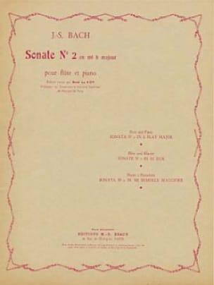 Sonate n°2 en mib majeur - Flûte piano - BACH - laflutedepan.com