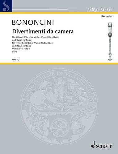Divertimenti da Camera Volume 4 -Altblockfl. o. Violine u. BC - laflutedepan.com