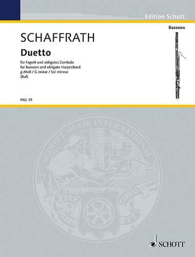 Duetto en Sol Mineur - Christoph Schaffrath - laflutedepan.com