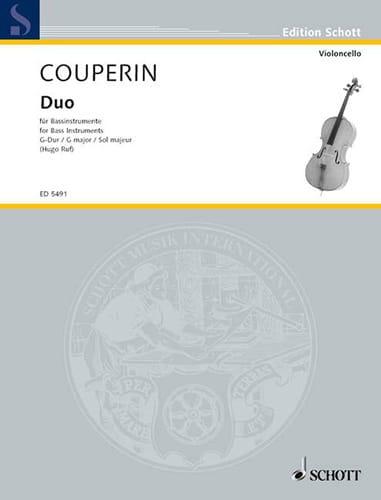 Duo G-Dur - Bassinstrumente - COUPERIN - Partition - laflutedepan.com