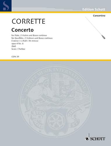 Michel Corrette - Concierto para flauta en mi min. op. 4 n ° 6 - Partition - di-arezzo.es