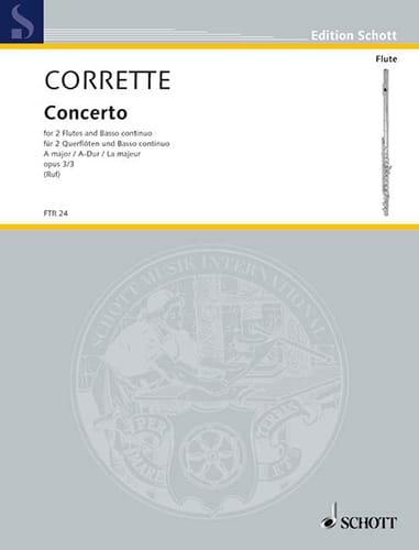 Concerto A-Dur -2 Flöten Bc - CORRETTE - Partition - laflutedepan.com