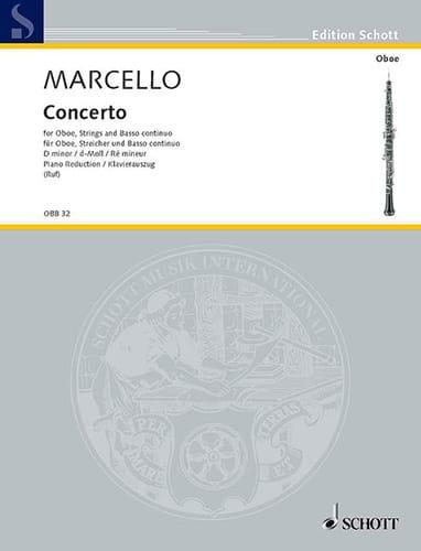 Alessandro Marcello - Concerto in D Minor - Partition - di-arezzo.com