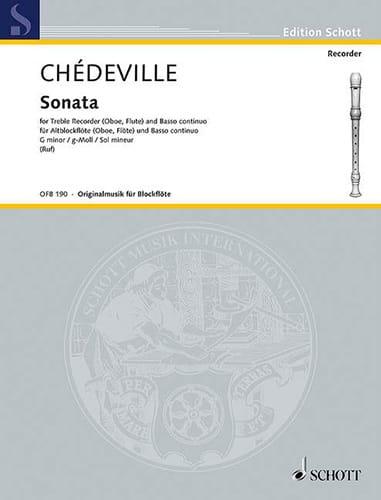 Philippe Esprit (L'Aîné) Chédeville - Sonata g-moll - Altblockflöte u. Bc - Partition - di-arezzo.it