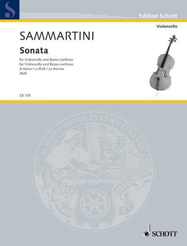 Sonate A-Moll - Violoncello - SAMMARTINI - laflutedepan.com