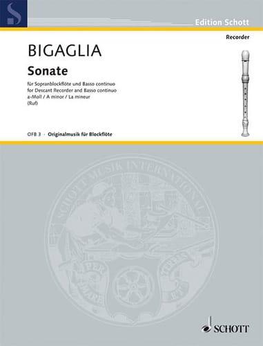Sonate A-Moll La Mineur - Diogenio Bigaglia - laflutedepan.com