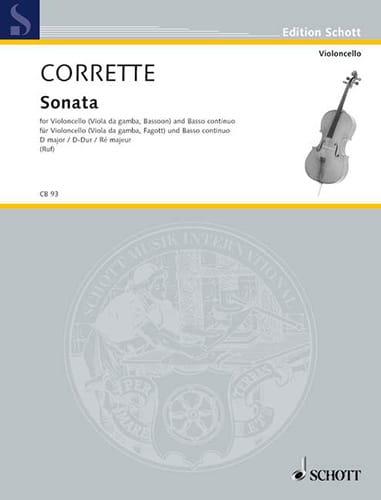Sonate D-Dur, op. 20 n° 6 - CORRETTE - Partition - laflutedepan.com