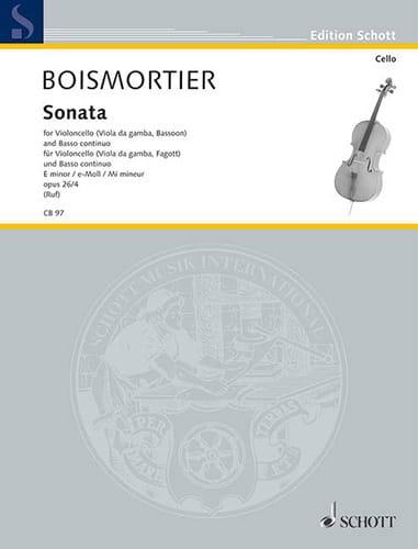 Sonata E-Moll, op. 26 n° 4 - BOISMORTIER - laflutedepan.com
