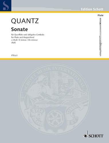 Sonate e-moll -Flöte u. obligates Cembalo - QUANTZ - laflutedepan.com