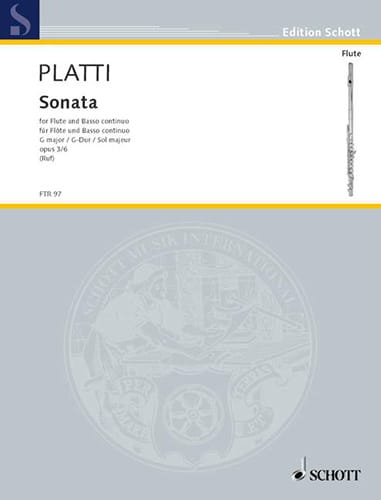 Sonate G-Dur op. 3 n° 6 - Flöte und Bc - laflutedepan.com