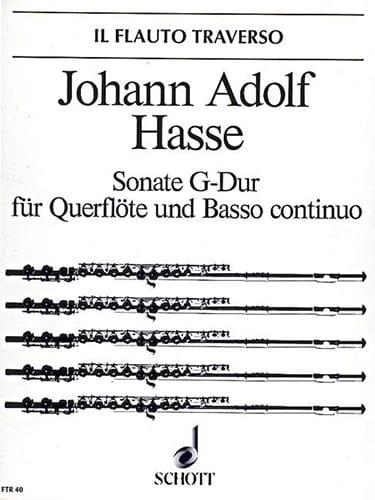 Sonate G-Dur - Flöte u. Bc - Johann Adolf Hasse - laflutedepan.com