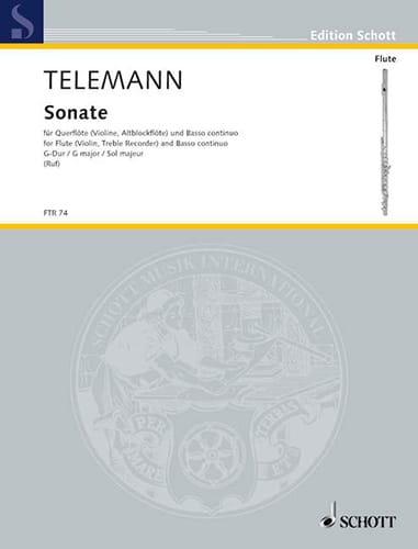 TELEMANN - Sonate G-Dur - Flöte und Bc - Partition - di-arezzo.fr