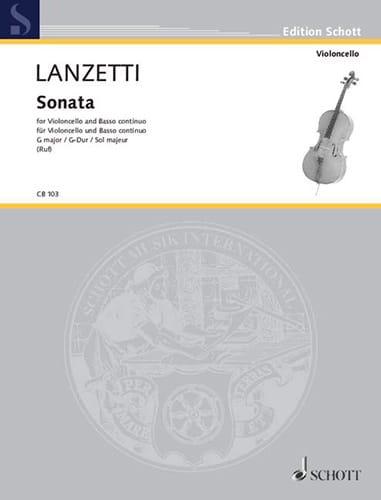 Sonate G-Dur op. 1 n° 1 - Salvatore Lanzetti - laflutedepan.com