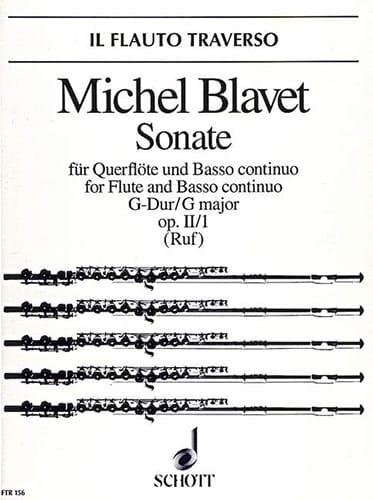 Sonate en Sol Majeur op. 2 n° 1 - Flöte und Bc - laflutedepan.com