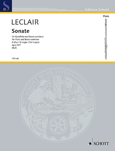 Jean-Marie Leclair - G-Dur Sonata op. 9 n ° 7- Flöte und Bc - Partition - di-arezzo.co.uk