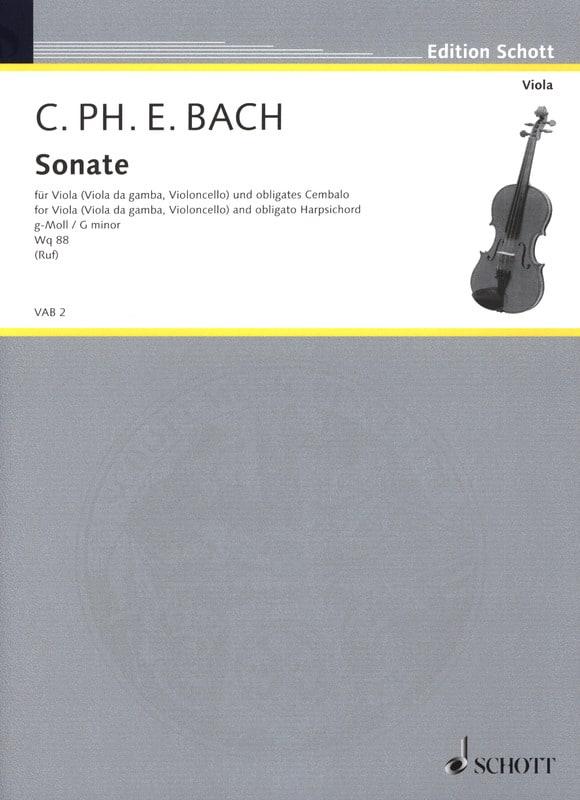 Sonate G-Moll, Wq 88 - Viola - laflutedepan.com