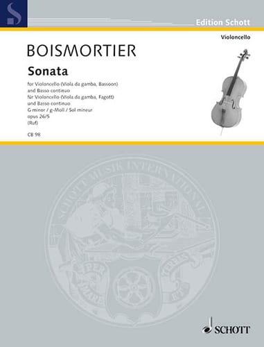 Sonate g-moll , op. 26 n° 5 - BOISMORTIER - laflutedepan.com