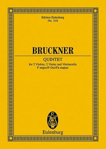 Anton Bruckner - Quintet in F Major - Partition - di-arezzo.co.uk