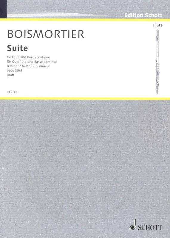 Suite h-Moll, op. 35 n° 5 - Flöte und Bc - laflutedepan.com