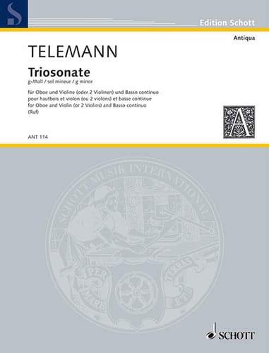 Triosonate g-moll -Oboe Violine Bc - TELEMANN - laflutedepan.com