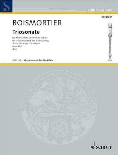 Triosonate B-Dur op. 41 n° 3 -Altblockflöte Violine Bc - laflutedepan.com