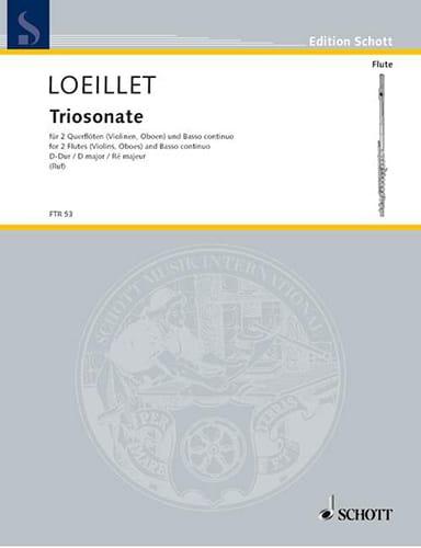 Triosonate D-Dur op. 1 n° 4 -2 Flöten Bc - laflutedepan.com