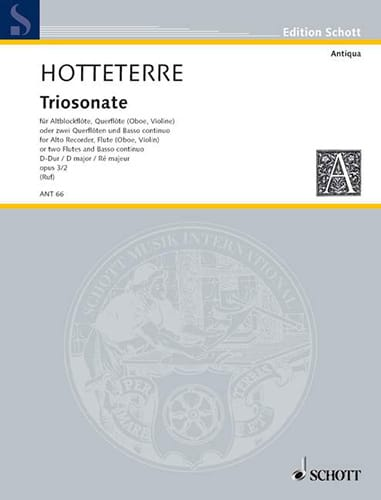 Triosonate D-Dur op. 3 n° 2 -Altblockflöte Flöte Bc - laflutedepan.com