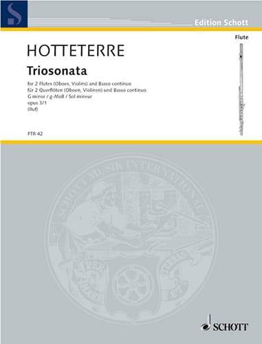 Triosonate g-moll, op. 3 n° 1 -2 Flöten Bc - laflutedepan.com