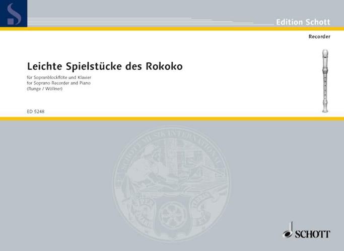 Leichte Spielmusik des Rokoko - Flûte A Bec - laflutedepan.com