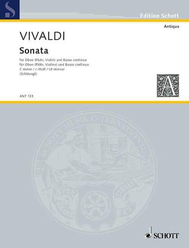 VIVALDI - Sonata c-moll RV 53 - Oboe Flute, Violine und Bc - Partition - di-arezzo.co.uk