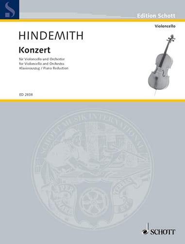 Concerto 1940 - HINDEMITH - Partition - Violoncelle - laflutedepan.com