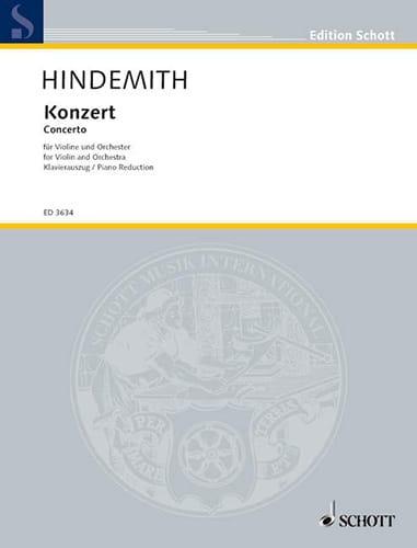 Concerto pour Violon 1939 - HINDEMITH - Partition - laflutedepan.com