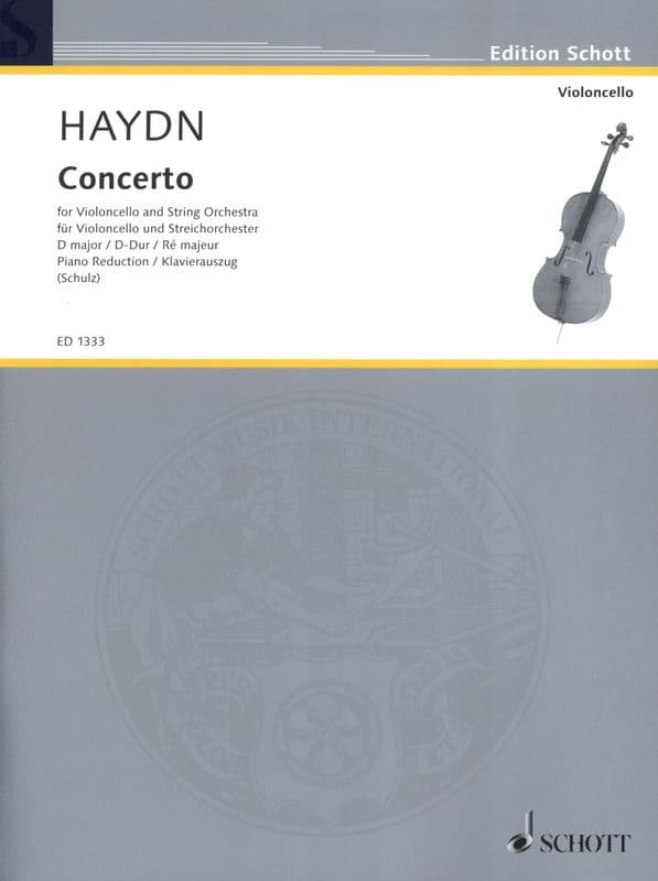 HAYDN - Violoncello-Konzert D-Dur Hob. 7b: 4 - Partition - di-arezzo.co.uk