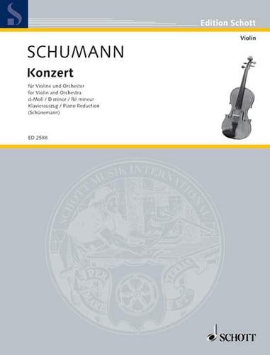 SCHUMANN - Konzert D-Moll for Violine - Partition - di-arezzo.com