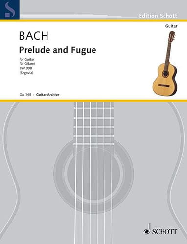 BACH - Prelude and Fuge D-Dur BWV 998 - Partition - di-arezzo.co.uk