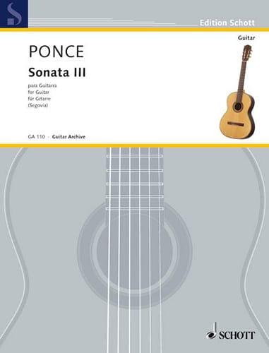 Manuel Maria Ponce - Sonata n ° 3 for Guitarra - Partition - di-arezzo.co.uk