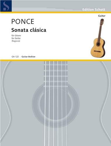 Manuel Maria Ponce - Sonata clássica - Partition - di-arezzo.co.uk