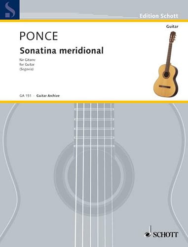 Manuel Maria Ponce - Southern Sonatina - Partition - di-arezzo.co.uk
