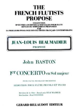 Concerto n° 1 en sol majeur - Flûte piccolo - laflutedepan.com