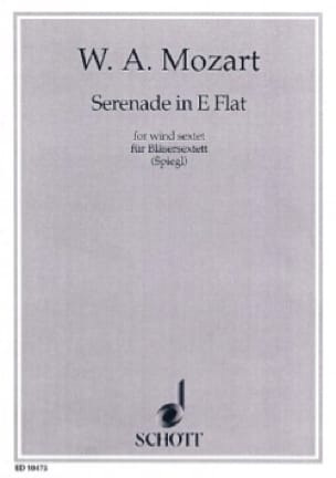 MOZART - Serenade Es-Dur KV 375 - Bläsersextett - Stimmen - Partition - di-arezzo.co.uk