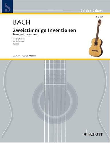 BACH - Sämtliche Zweistimmige Inventionen Bwv 772-786 - 2 Guitares - Partition - di-arezzo.fr