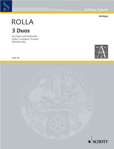 Duo n° 3 en la majeur - Alessandro Rolla - laflutedepan.com