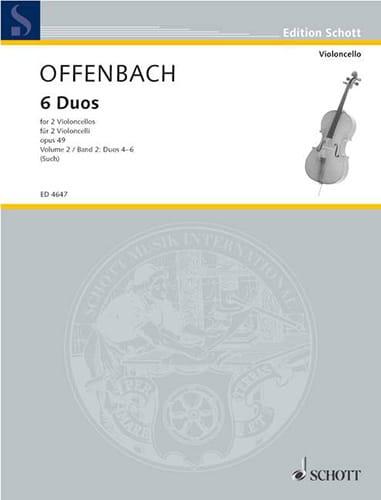 Jacques Offenbach - 6 Duos op. 49, Bd. 2 4-6 - Partition - di-arezzo.com