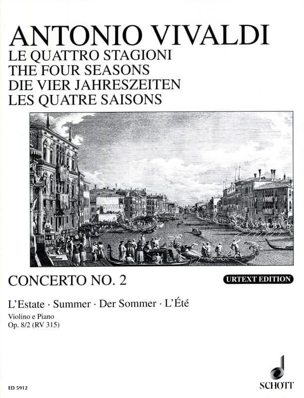 Concerto L'estate op. 8 n° 2 - VIVALDI - Partition - laflutedepan.com