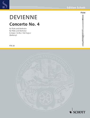 François Devienne - Concerto No. 4 G-Dur - Flöte Klavier - Partition - di-arezzo.co.uk