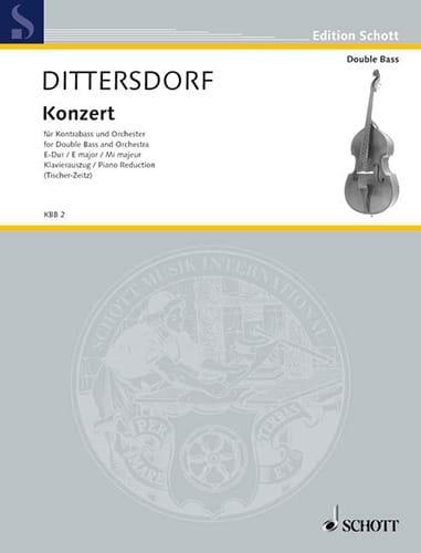 Carl Ditters von Dittersdorf - Konzert E-Dur - Kontrabass - Partition - di-arezzo.co.uk