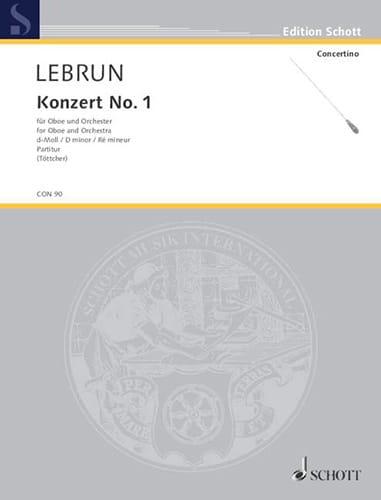 Oboen-Konzert Nr. 1 d-moll - Partitur - laflutedepan.com