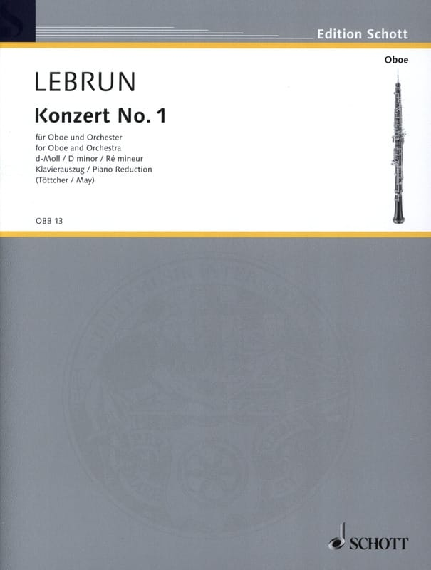 Ludwig August Lebrun - Concerto N ° 1 in D Minor - Partition - di-arezzo.co.uk