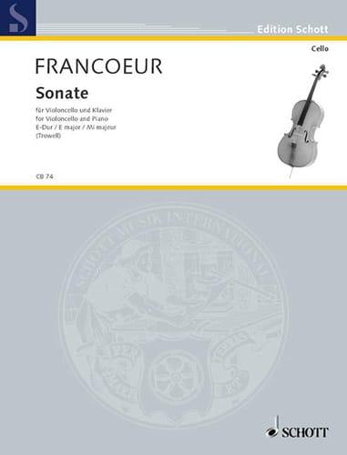 Sonate E-Dur - François Francoeur - Partition - laflutedepan.com