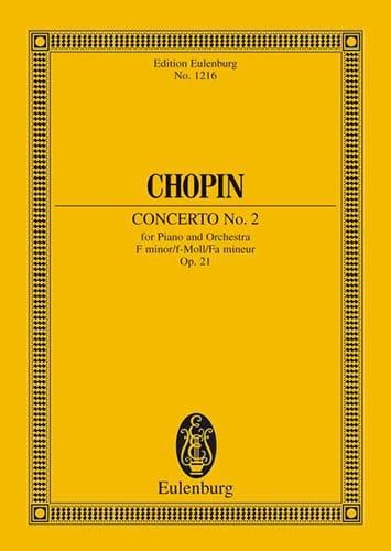 CHOPIN - Concerto N ° 2 for Piano and Orchestra in F Minor Op. 21 - Partition - di-arezzo.com